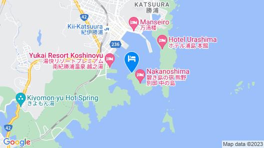 Kumano-bettei Nakanoshima Map