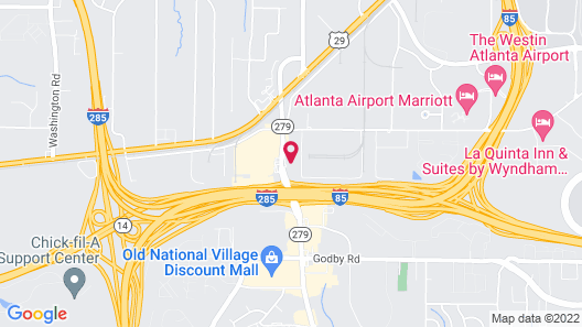Howard Johnson by Wyndham Atlanta College Park Map