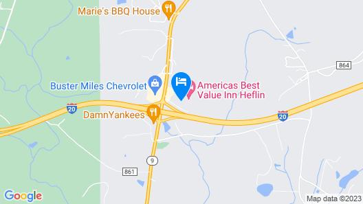 Americas Best Value Inn Heflin Map