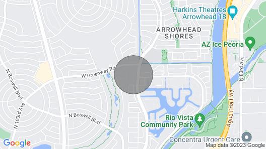 Sanitized Sunny Sky Condo Modern 55+ 2 BR Condo/pool/fitness/ Peoria/sun City Map