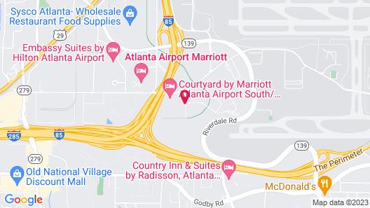 Microtel Inn by Wyndham Atlanta Airport Map