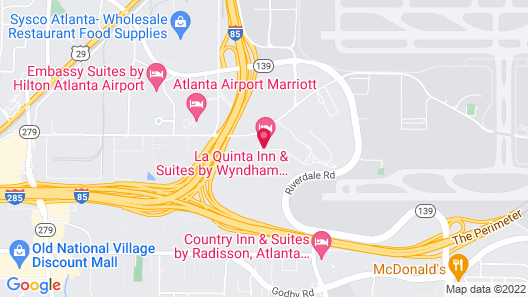La Quinta Inn & Suites by Wyndham Atlanta Airport South Map