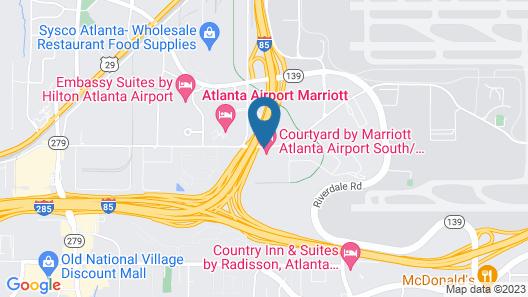 Courtyard by Marriott Atlanta Airport South/Sullivan Road Map