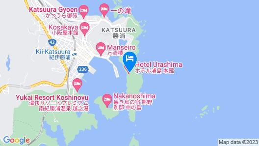 Hotel Urashima Nagisakan Nisshokan Map