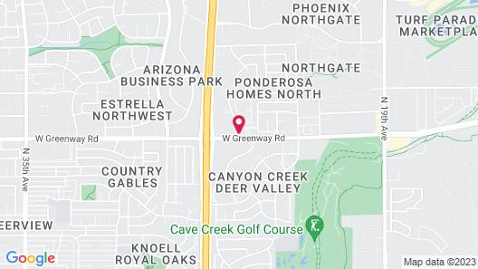 La Quinta Inn by Wyndham Phoenix North Map