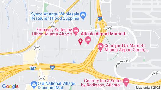 Hilton Garden Inn Atlanta Airport/Millenium Center Map