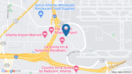 Sleep Inn Atlanta Airport Map