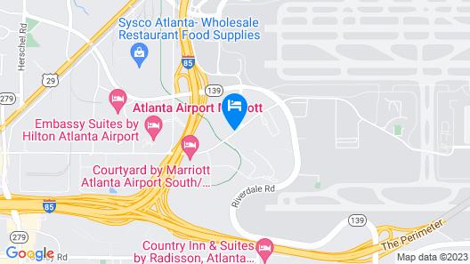 Hyatt Place Atlanta Airport-South Map