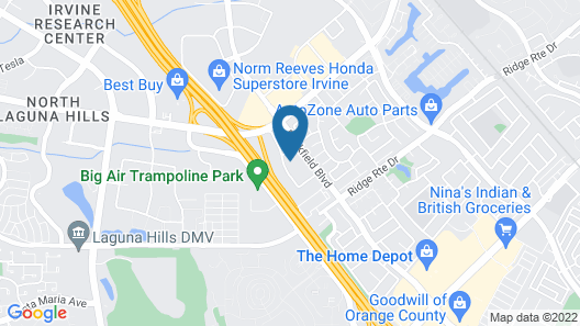TownePlace Suites by Marriott Irvine Lake Forest Map