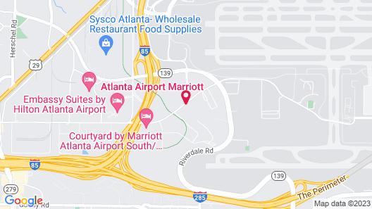 Comfort Inn Atlanta Airport Map