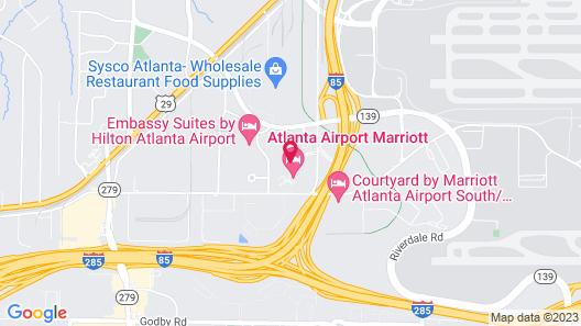 Atlanta Airport Marriott Map