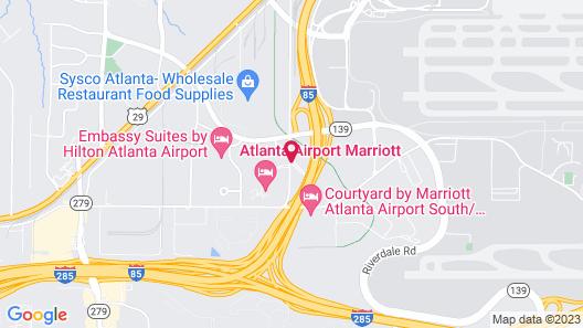 The Westin Atlanta Airport Map
