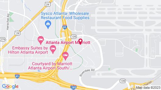 Sonesta Atlanta Airport South Map