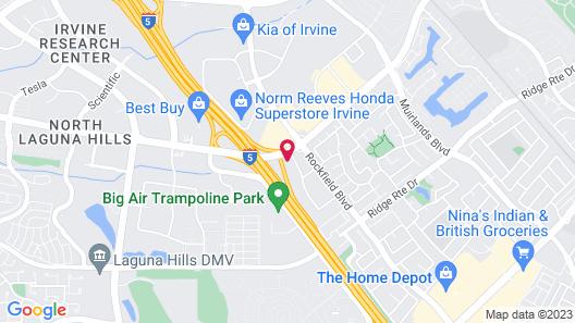 Hampton Inn by Hilton Irvine Spectrum/Lake Forest Map