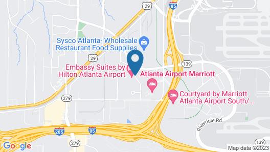 Embassy Suites Atlanta Airport Map