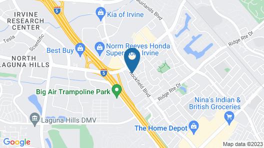 Quality Inn & Suites Irvine Spectrum Map