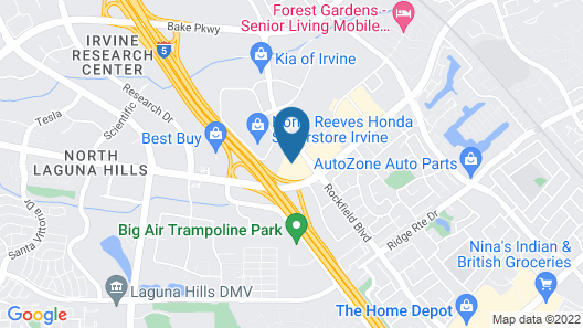 SpringHill Suites by Marriott Irvine Lake Forest Map