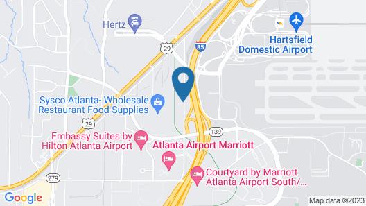Radisson Hotel Atlanta Airport Map