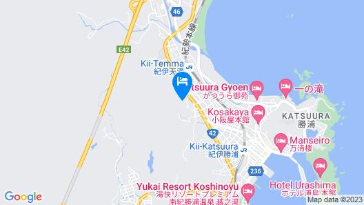 Hiizurukurenai No Yado Katsuura Kanko Hotel Map