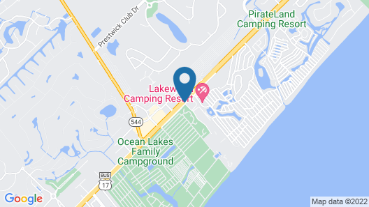 Myrtle Beach Resort by Beach Vacations Map