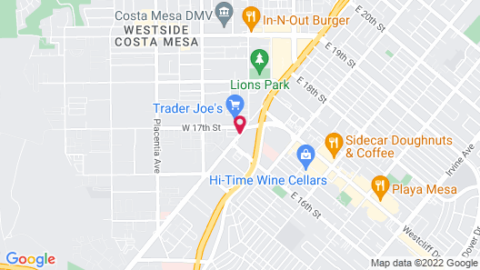 Ramada by Wyndham Costa Mesa/Newport Beach Map
