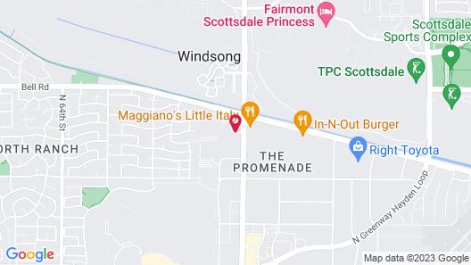 Sleep Inn at North Scottsdale Road Map