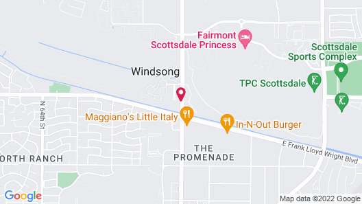 Courtyard by Marriott Scottsdale North Map