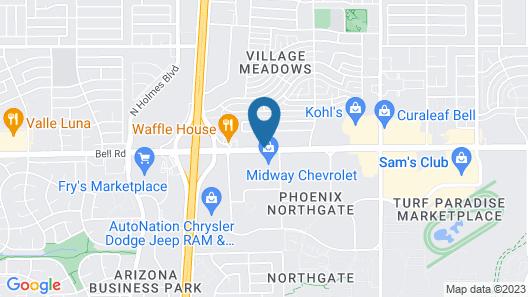 Motel 6 Phoenix, AZ - North Bell Road Map