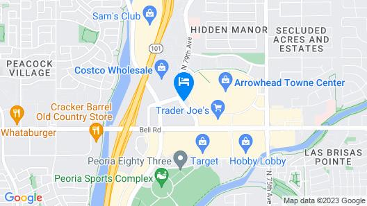 Quality Inn Glendale at Arrowhead Towne Center Map