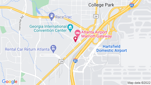 Renaissance Atlanta Airport Gateway Hotel Map