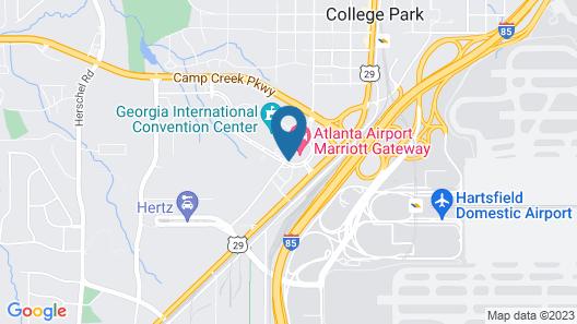 Atlanta Airport Marriott Gateway Map
