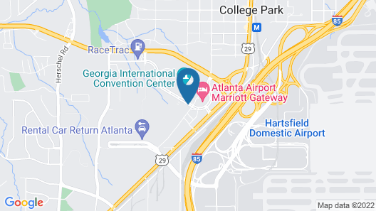 SpringHill Suites by Marriott Atlanta Airport Gateway Map