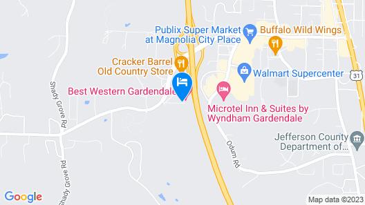 Best Western Gardendale Map