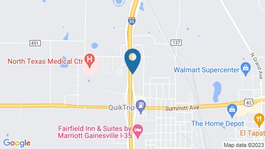 Super 8 by Wyndham Gainesville TX Map