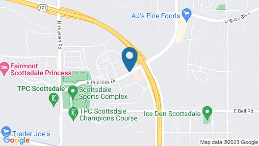Hilton Garden Inn Scottsdale North/Perimeter Center Map