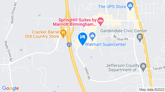 Microtel Inn & Suites by Wyndham Gardendale Map