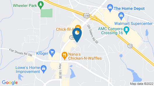 InTown Suites Extended Stay Atlanta GA - Conyers Map