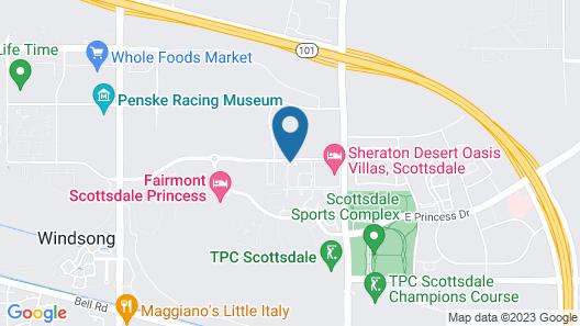 Scottsdale Villa Mirage by Diamond Resorts Map