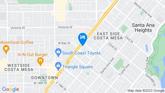 Holiday Inn Express Costa Mesa, an IHG Hotel Map