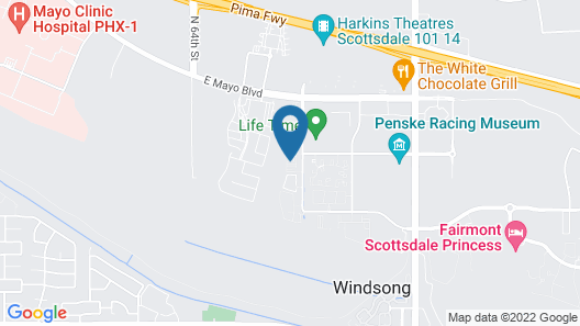 WanderJaunt - Luxe North Scottsdale Apts Map