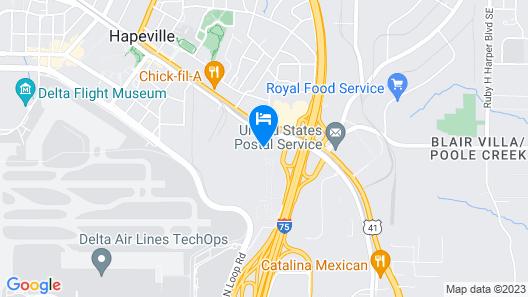 Kimpton Overland Hotel - Atlanta Airport Map