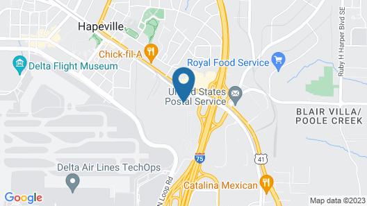 Kimpton Overland Hotel - Atlanta Airport, an IHG Hotel Map