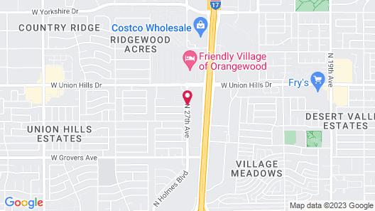 Sleep Inn Phoenix North I-17 Map