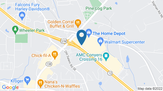 Hampton Inn Conyers Map