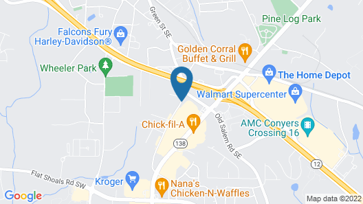 Microtel Inn & Suites by Wyndham Conyers/Atlanta Area Map