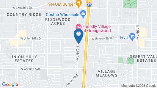 Studio 6 Phoenix, AZ - Deer Valley Map