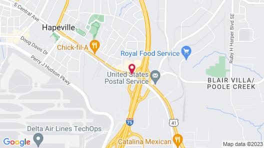 Best Western Plus Atlanta Airport-East Map