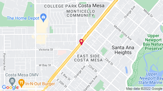 Motel 6 Costa Mesa, CA - Newport Beach Map