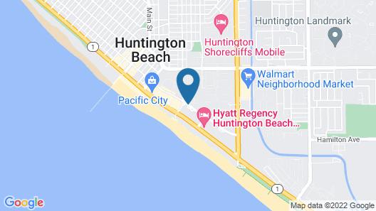 The Waterfront Beach Resort, A Hilton Hotel Map