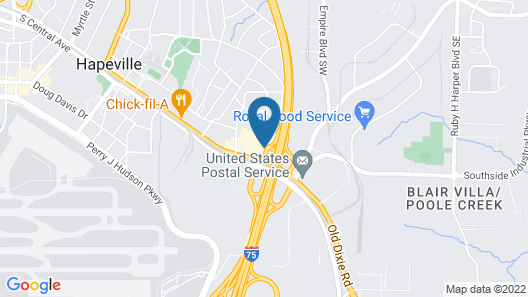 Holiday Inn Express & Suites Atlanta Airport NE - Hapeville , an IHG Hotel Map